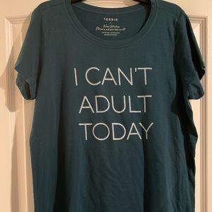 Torrid scoop neck graphic tee